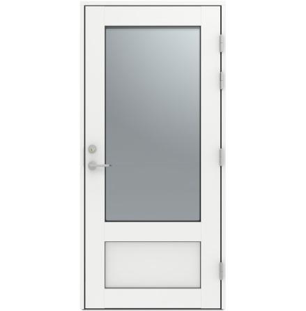 Ytterdörr Diplomat Altan 16 Klarglas vit Aluminium