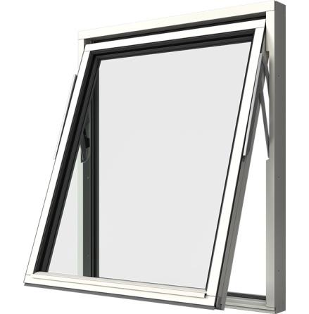 Vridfönster Elitfönster Original 3-glas Vitmålat Trä