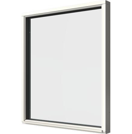 Fast Fönster Elitfönster Original 3-glas Vitmålat Trä
