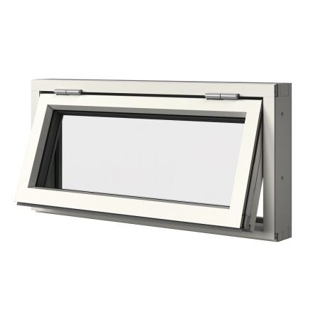 Överkantshängt Elitfönster Original 3-glas Vitlackerad Aluminium
