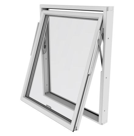 Vridfönster Outline 3-Glas Vitlackerad Alu
