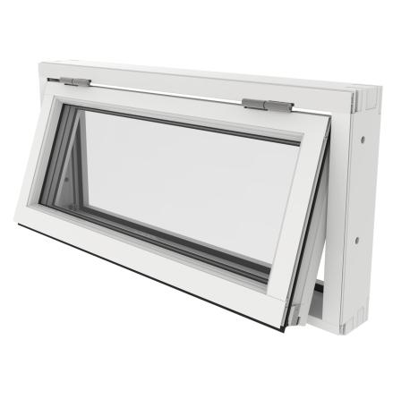 Överkantshängt Fönster Outline 3-Glas Vitlackerad Alu