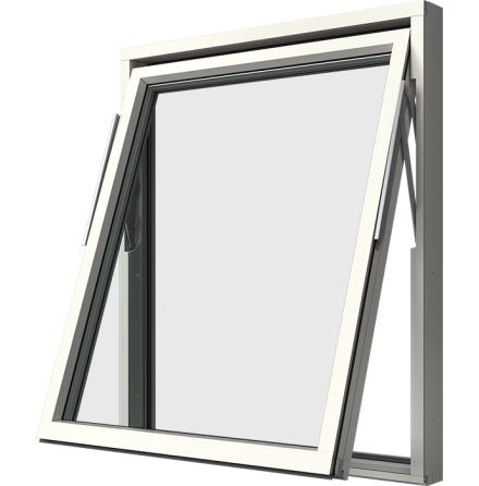 Vridfönster Elitfönster Original 3-glas Vitlackerad Aluminium