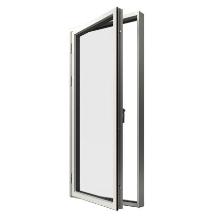 Helglasad Fönsterdörr Elitfönster Original 3-GLAS Vitlackerad Alu