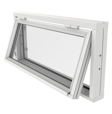 Överkantshängt Fönster Outline 2-Glas Vitmålat Trä