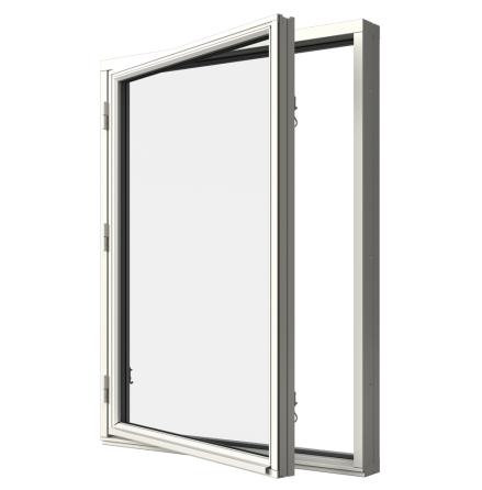 Sidohängt Fönster Elitfönster MF DUO 2-Glas Vitmålat Trä