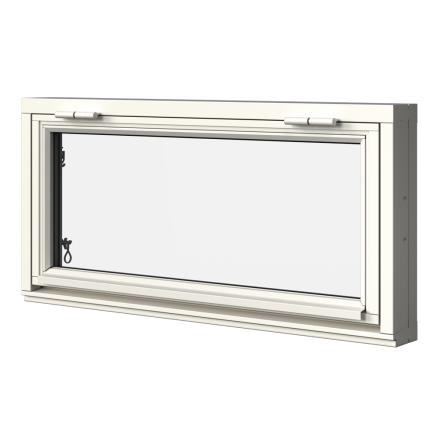 Överkantshängt Fönster Elitfönster MF DUO 2-Glas Vitmålat Trä