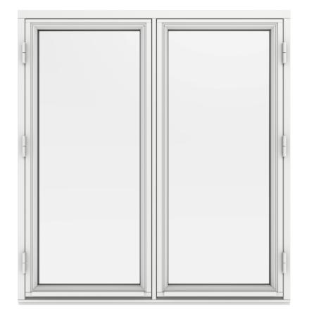 Sidohängt Fönster Elitfönster MF DUO 2-Glas Tvåluft Vitmålat Trä