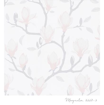 Tapet Tapetstudion Blomstertiden Magnolia 5228-3