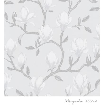 Tapet Tapetstudion Blomstertiden Magnolia 5228-5