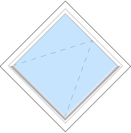 Diagonalt Outline FF12Ö 3-Glas Vitmålat Trä