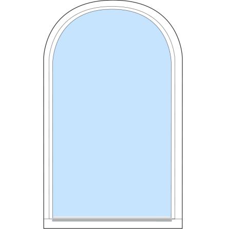 Välvt Fast Outline FF13F 3-Glas Vitmålat Trä
