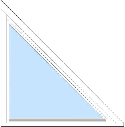 Trekantigt Fast Outline FF7F 3-Glas Vitmålat Trä