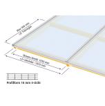 Komplett Kanalplasttak Halle Isolux 10mm Opal