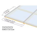 Komplett Kanalplasttak Halle Isolux 16mm Opal