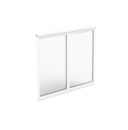 Fast Fönsterparti 2-delat Halle Fritid Primo Enkelglas Vit