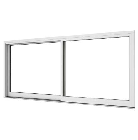 Skjutdörr Elitfönster 2-delad Vitlackerad Aluminium