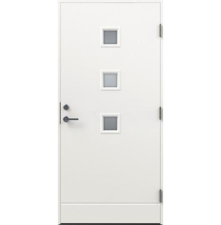 Ytterdörr Diplomat Basic Modern klarglas vit