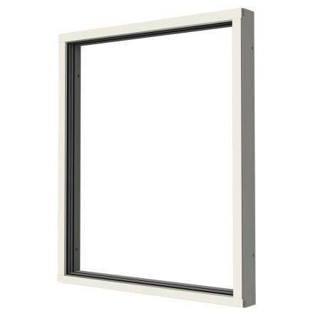 Fast Fönster Elitfönster Vision 3-glas Vitlackerad Aluminium