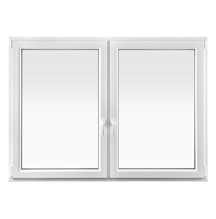 SIDOHÄNGDA DRUTEX IGLO 5 CLASSIC TVÅLUFT 3-GLAS PVC VIT
