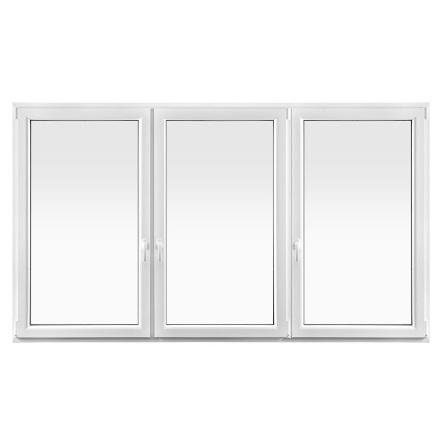 SIDOHÄNGDA DRUTEX IGLO 5 CLASSIC TRELUFT 3-GLAS PVC VIT
