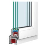 FAST FÖNSTER DRUTEX IGLO 5 CLASSIC 3-GLAS PVC VIT