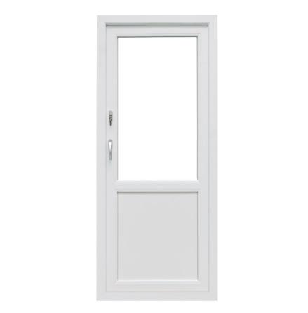 Bröstad Utåtgående Fönsterdörr Drutex Iglo 5 Classic 3-Glas PVC Vit