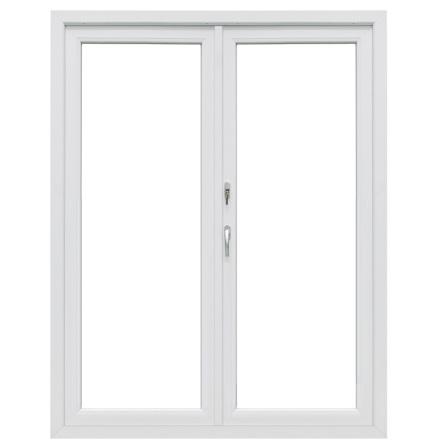 Helglasad Utåtgående Parfönsterdörr Drutex Iglo 5 Classic 2-Glas PVC Vit