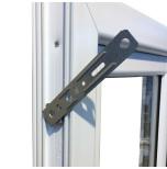 Inåtgående Helglasad Balkongpardörr Drutex Iglo 5 Classic 3-Glas PVC Vit