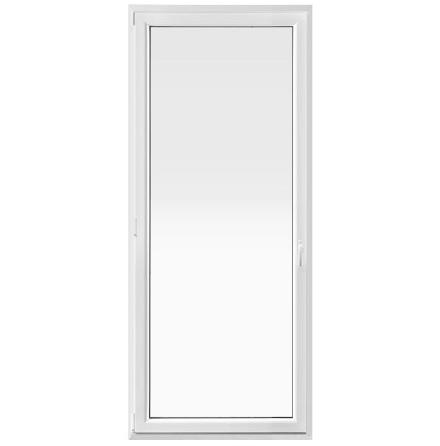 Inåtgående Helglasad Balkongdörr Drutex Iglo 5 Classic 2-Glas PVC Vit