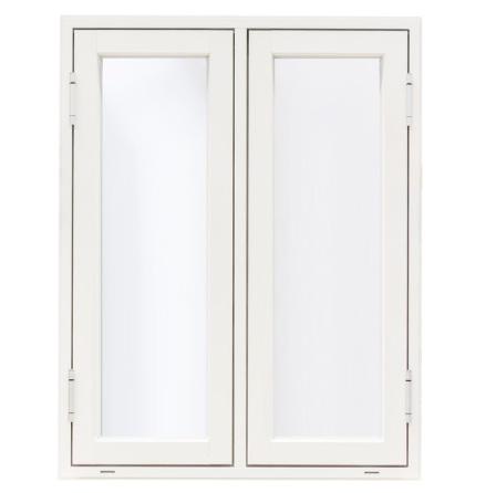 SIDOHÄNGT FÖNSTER TVÅLUFT WESTCOAST WINDOWS CLASSIC 3-GLAS VIT ALU