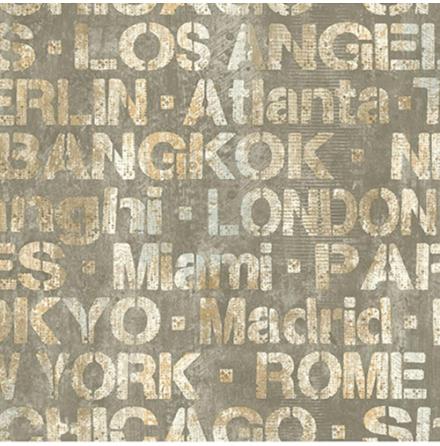 Tapet York Wallcoverings Urban Chic RK4410