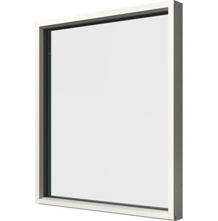Fast Fönster Elitfönster Original 3-glas Vit Aluminium